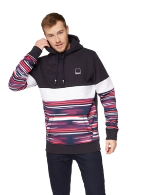 Hoodie im Color-Blocking-Stil vorne