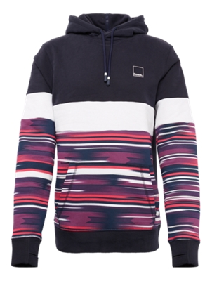 Hoodie with Colour-Blocking Style on the Front