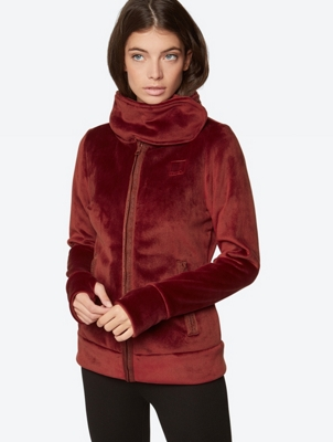 Fleece Jacket with Standing Collar