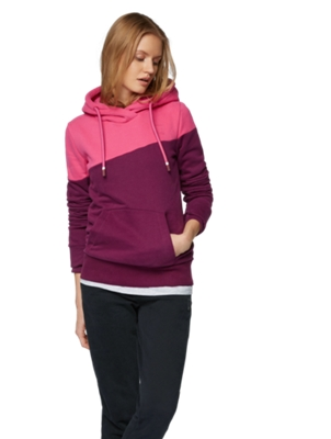 Hoodie in Colour Blocking Design