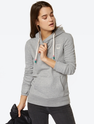 Hoodie with Bench Logo on the Back Hem