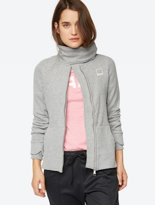 Sweat Jacket with Standing Collar