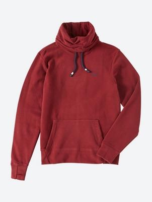 Sweatshirt with Shawl Collar and Drawstring