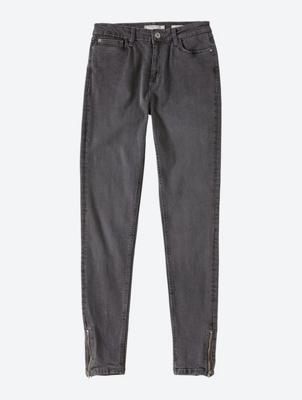Skinny Jeans mit Reißverschlüssen am Beinabschluss