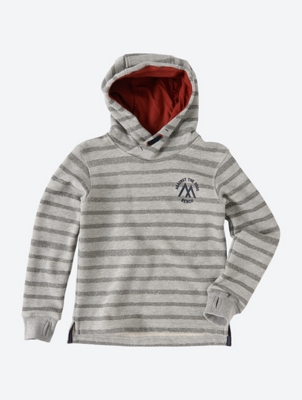 Striped Hoodie with Contrast Details