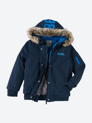 Water Repellent Jacket with Large Bench Logo on the Hood