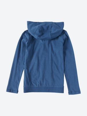 Long Sleeve Jersey Hoodie with Striped Hood Lining