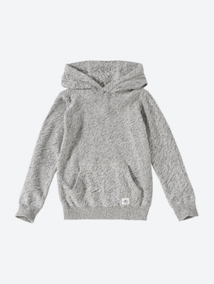 HOODED OVERHEAD KNIT