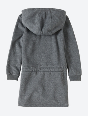 Melange Sweat Dress with Hood
