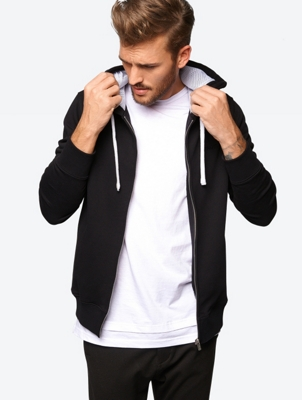 Zip Up Hoodie with Back Print