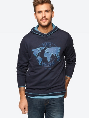 Hoodie with Large Front Print