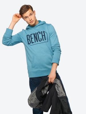 Melange Hoodie with Embroidered Bench Logo