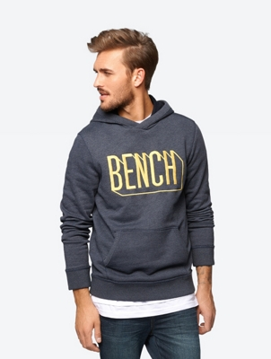 Marl Hoodie with Embroidered Bench Logo