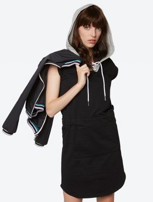 Jersey Dress with Hood