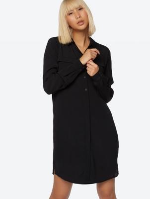 Shirt Dress in Crêpe Material