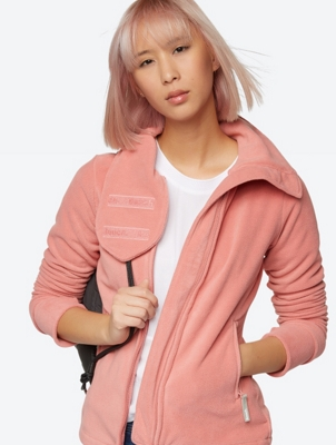 Fleece Jacket with Stand-Up Collar