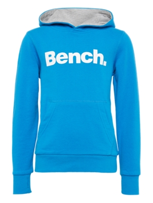Hoodie with Nubbed Bench Lettering on the Front