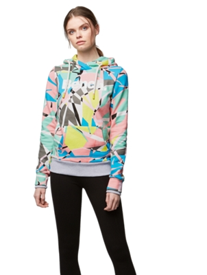 Hoodie with Colourful All-Over Print