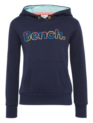 Hoodie with Colourful Bench Embroidery on the Front