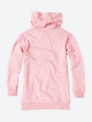 Gepunktetes Sweatshirt mit Schalkragen