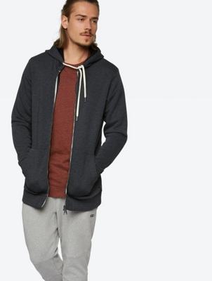 Marl Hoodie Indigenous with Full Length Zipper