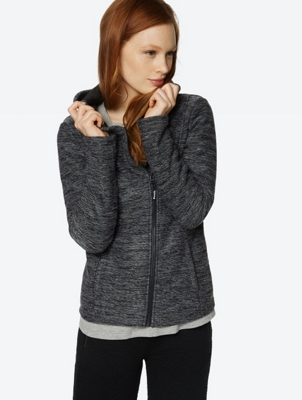 Marl Cardigan with Fleece Lining