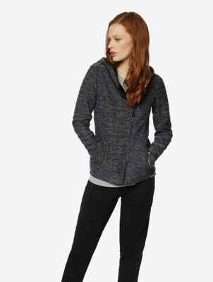 Melange Cardigan with Fleece Lining