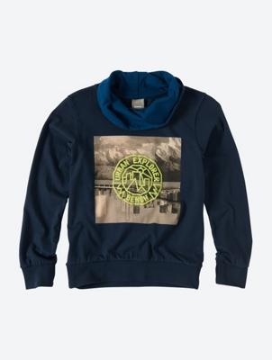 GraphicSweatshirt with Shawl Collar