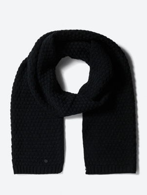 Scarf with Knit Pattern