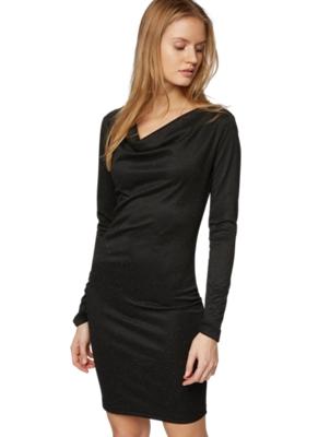 Kleid mit eingewebten Lurex-Fäden