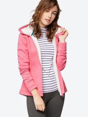 Plain Sweat Jacket with Hood