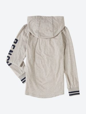 Jersey Hoodie with Bench Print on the Left Sleeve