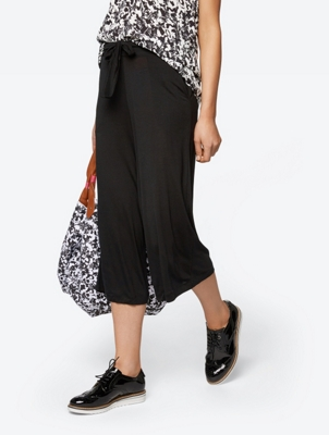 High Waisted Jersey Culottes
