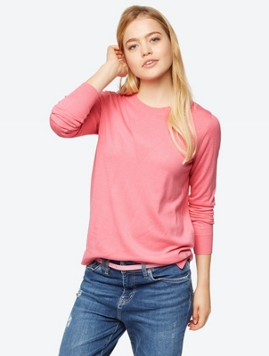 Plain Jumper in Fine Knit Quality