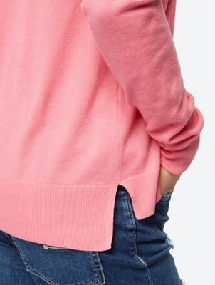Unifarbener Pullover in Feinstrick-Qualität