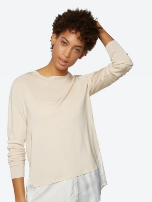 Matt Shine Jumper in a Layered Design