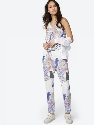 Patterned Jumpsuit with Wrap Effect