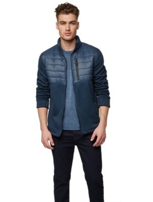 Jacket with Vertical Zip Pocket on the Chest