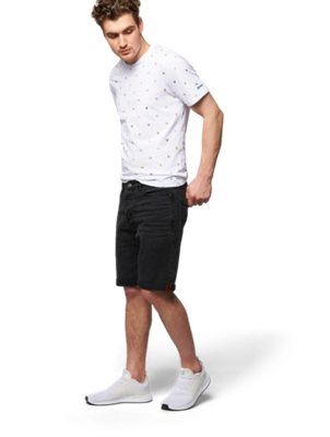 Jeans Shorts mit Crinkles