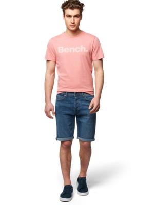 Jeans Shorts with Destroyed Effect