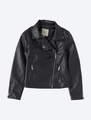 Biker Jacket in Leather Look