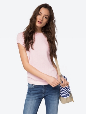 Knitted T-Shirt in a Boxy Shape