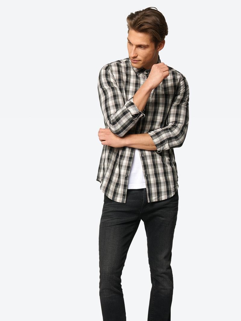 Bench Schwarz Mens Shirt Größe M
