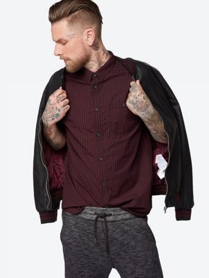 Checked Shirt with Roll-Up Sleeves