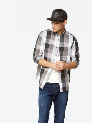 Long Sleeve Checked Shirt with Patch Breast Pocket