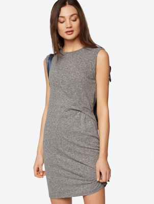 Sleeveless Jersey Dress with Ruched Side Detail