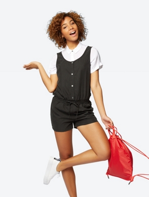 Short Jumpsuit Chatiness with Soft Sheen