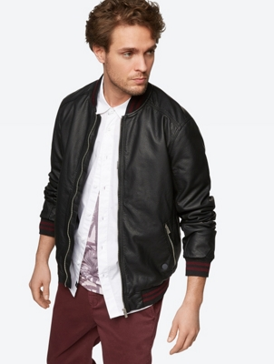 Casual Jacket in Leather Look