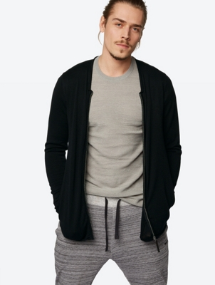 Knitted Bomber Jacket Ratify with Rolled Hems