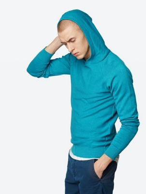 Fine Knit Hoodie Origin with Marl Look